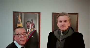 Head of the DPR Representative center in Greece met with the Ambassador of Venezuela in Athens
