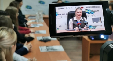 "Natalia Nikonorova took part in the meeting of ""Legatus"" Youth Diplomacy Center students"